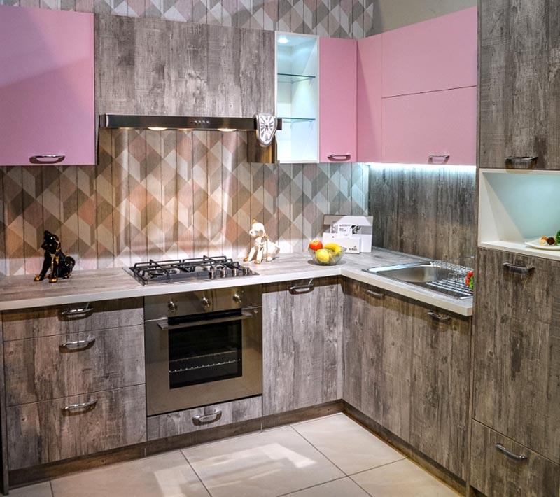 Кухня Мастершафт Петра бетон серый 1