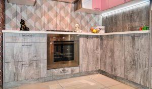 Кухня Петра бетон серый 5